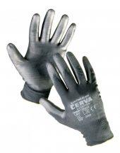 BUNTING BLACK kesztyű nylon PU - 10