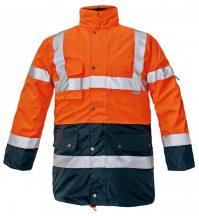 BI ROAD kabát HV narancs/sötétkék XL