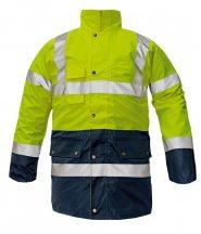 BI ROAD kabát HV sárga/sötétkék XL