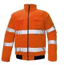 CLOVELLY pilóta dzseki HV narancs XL