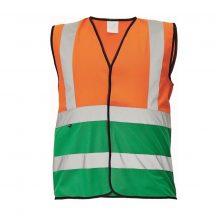 LYNX DUO mellény narancssárga/zöld XL