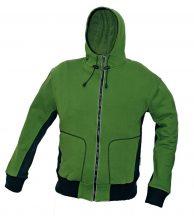STANMORE pulóver kapucnival zöld - XL