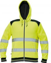 KNOXFIELD HV kapuc.pulóver sárga XL