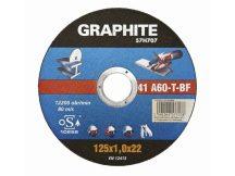 VÁGÓKORONG GRAPHITE 125X1,0 FÉM 57H707