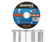 VÁGÓKORONG GRAPHITE 125X2,5 FÉM 57H708