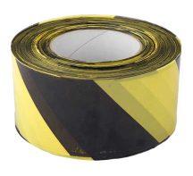 JSP figyelmeztető szal fekete/sárga 500m