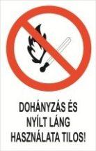 Dohányzás és nyílt láng használata tilos! (TÁBLA)