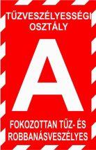 """""""A"""" tűzveszélyességi osztály (TÁBLA)"""