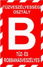 """""""B"""" tűzveszélyességi osztály (TÁBLA)"""