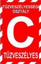 """""""C"""" tűzveszélyességi osztály (TÁBLA)"""