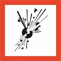 Robbanóanyag,tűz,robbanásveszély (TÁBLA)
