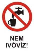 Nem ivóvíz! (TÁBLA)