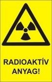 Radioaktív anyag! (TÁBLA)
