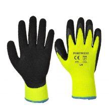 A143 - Thermal Soft Grip kesztyű-sárga(M)