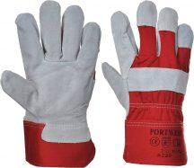 A220 - Prémium bőrkesztyű - piros (10)