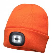 B029 - Sapka, újratölthető LED lámpával - narancs