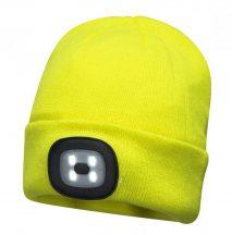 B029 - Sapka, újratölthető LED lámpával - sárga