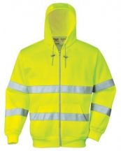 Portwest - B305 Hi Vis zippzáros pulóver (XL)
