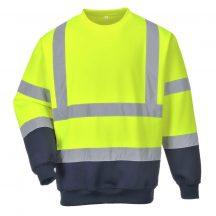 B306 - Kéttónusú Hivis pulóver - Sárga (XL)