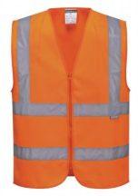 C375 - Hi-Vis zippzáras mellény - narancs,XL