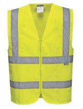 C375 - Hi-Vis zippzáras mellény - sárga,XL