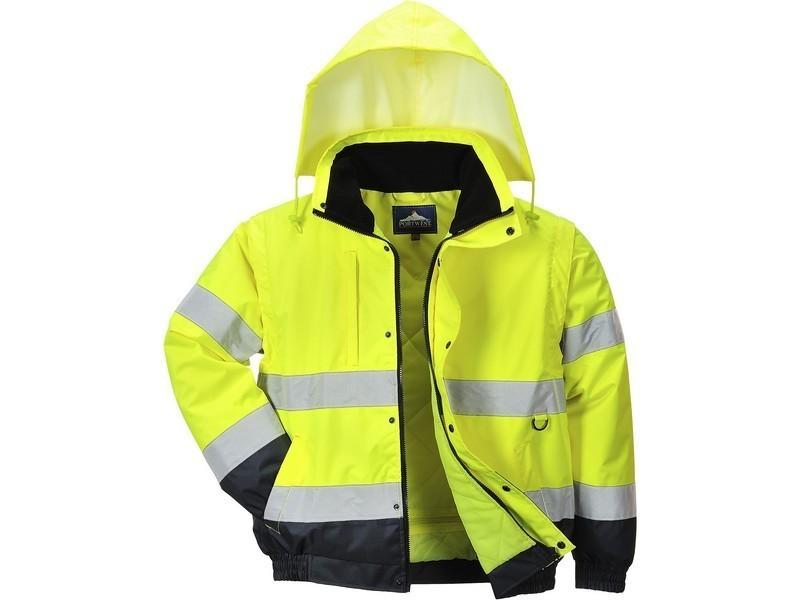 C468 - HiVis 2 az 1-ben kabát - Sárga (XL) - Legjobb Munkaruha Webshop 03330cab28
