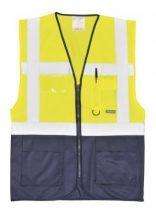 Portwest C476 Vezetői mellény - Sárga/Navy (XL)