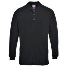 FR10 - Lángálló teniszpóló - Fekete (XL)