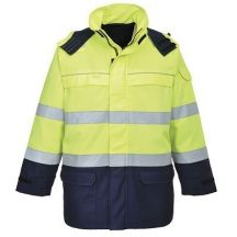Portwest FR79 Bizflame Multi Arc láthatósági kabát ( Sárga/Navy - XL )