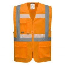 G456 - Glowtex vezetői mellény Ezee zippzárral - narancs,XL