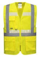 G456 - Glowtex vezetői mellény Ezee zippzárral - sárga,XL
