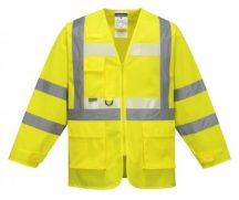 G475 - Glowtex vezetői kabát - sárga,XL
