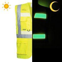 G476 - Glowtex vezetői mellény - sárga (XL)