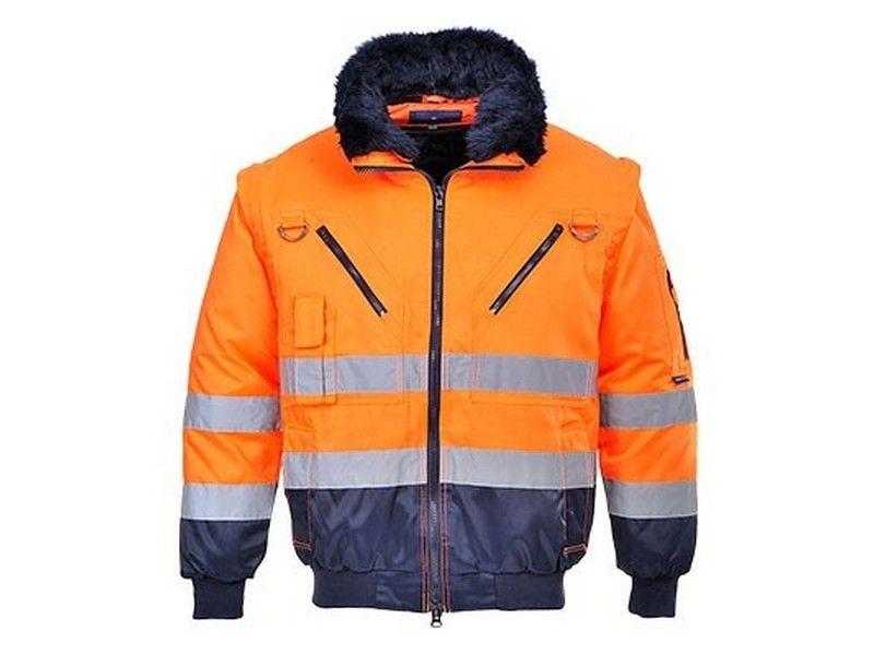 Portwest PJ50 Hi-Vis 3 az 1-ben Pilóta kabát (Narancs Navy - XL ... cb5c8d4c36