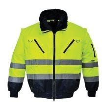 Portwest PJ50 Hi-Vis 3 az 1-ben Pilóta kabát (Sárga/Navy - XL )