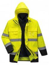 S162 - Hi-Vis Lite 3 in 1 kabát - sárga/tengerészkék (XL)