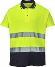 S174 - Kéttónusú pamut komfort póló - Sárga (XL)