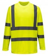 S178 - Hi-Vis hosszú ujjú póló - sárga (XL)