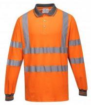 S271 - Hosszú ujjú Cotton Comfort pólóing - narancs,XL