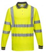 S271 - Hosszú ujjú Cotton Comfort pólóing - sárga,XL