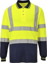S279 - Kéttónusú hosszú ujjú póló - Sárga (XL)