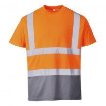 S378 - Kéttónusú pólóing - Narancs (XL)