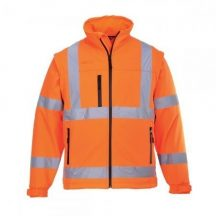 Portwest S424 Jól láthatósági Softshell dzseki ( Narancs - XL )