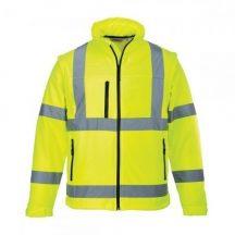 Portwest S424 Jól láthatósági Softshell dzseki ( Sárga - XL )