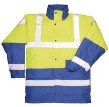 Portwest S466 Kontraszt Traffic kabát (SÁRGA/ROYAL KÉK XXXL)