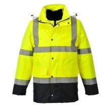 S471 - HiVis 4 az 1-ben Contrast Traffic kabát - Sárga (XL)