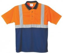 Portwest S479 Kéttónusú pólóing (NARANCS/NAVY XL)
