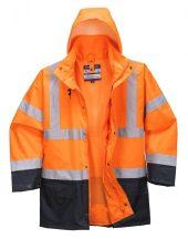 S766 - Essential 5 az 1-ben kabát - narancs / tengerészkék
