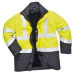 Portwest PJ50 Hi-Vis 3 az 1-ben Pilóta kabát (Sárga Navy - S ... 579f12a70b