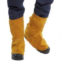 SW32 - Bőr hegesztési lábszárvédő, tépőzáras - barna